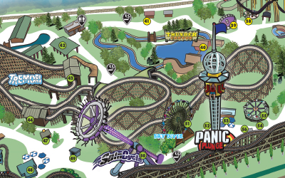 Silverwood Theme Park - Map of all us theme parks